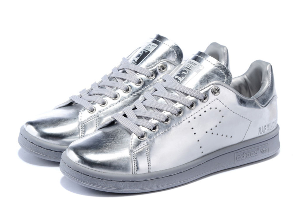 Adidas Chaussuers Homme/Femme x Raf Simons Stan Smith Argent AQ2648
