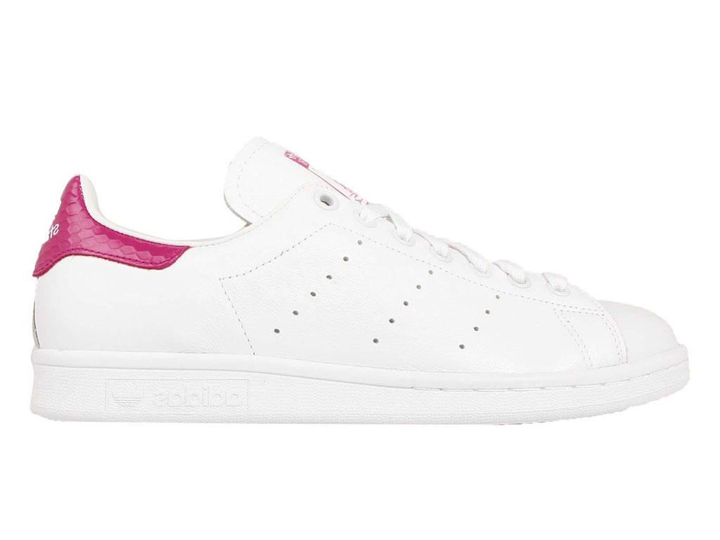 Adidas Chaussuers Homme/Femme x Raf Simons Stan Smith Blanc/Rose S75080