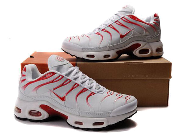 Air Max Nike Tn Requin/Nike Tuned 1 Chaussures Officiel Nike Pour Homme Blanc/Rouge