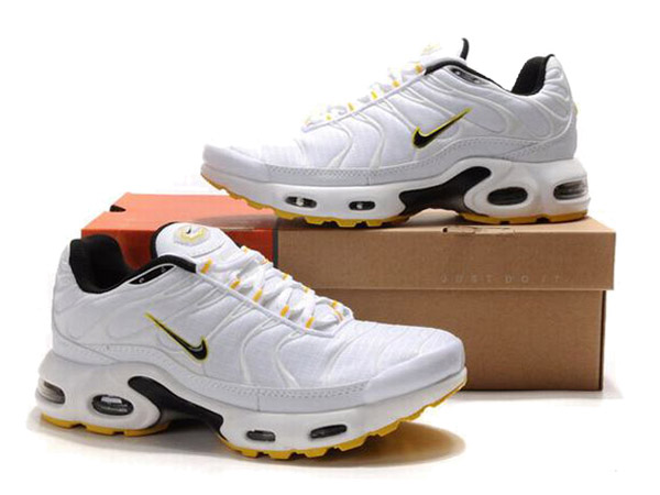 Air Max Nike Tn Requin/Nike Tuned 1 Chaussures Officiel Tn Pour Homme Blanc/Jaune