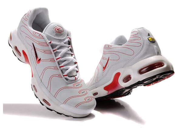 Air Max Nike Tn Requin/Nike Tuned 1 Chaussures Officiel Tn Pour Homme Blanc/Rouge
