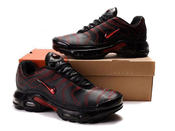 Air Max Nike Tn Requin/Nike Tuned 1 Chaussures Officiel Tn Pour Homme Noir/Rouge
