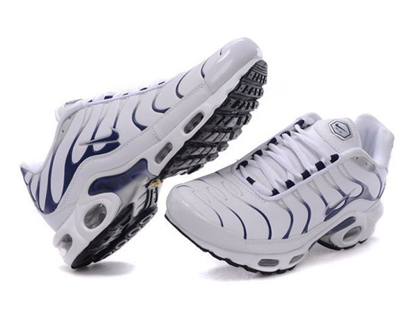 Air Max Nike Tn Requin/Nike Tuned 1 Chaussures Pas Cher Pour Homme Blanc/Bleu