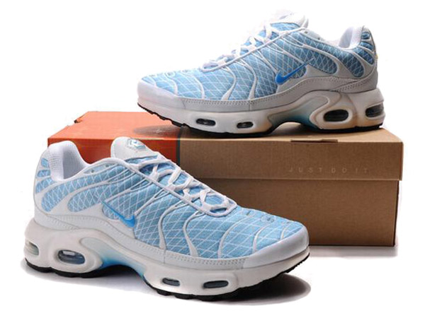 Air Max Nike Tn Requin/Nike Tuned 1 Chaussures Pas Cher Pour Homme Bleu/Blanc