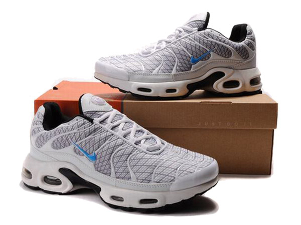 Air Max Nike Tn Requin/Nike Tuned 1 Chaussures Pas Cher Pour Homme Gris/Bleu