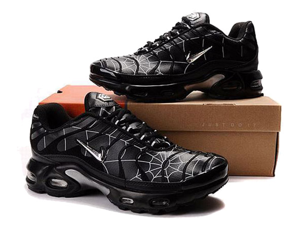 Air Max Nike Tn Requin/Nike Tuned 1 Chaussures Tn Pas Cher Pour Homme Noir/Spiderweb