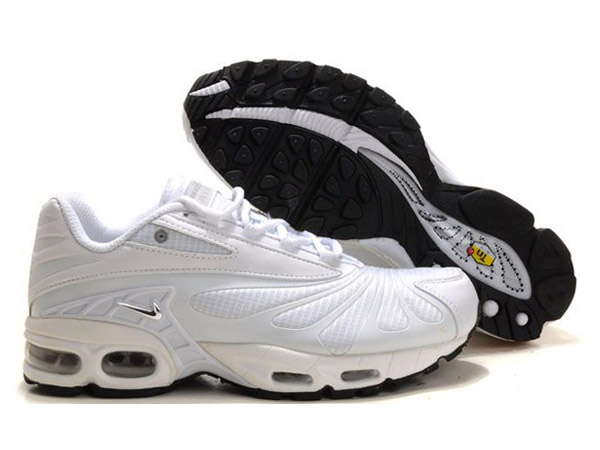 Air Max Nike Tn Requin/Nike Tuned 3 Chaussures Basket-Ball Pas Cher Pour Homme Blanc