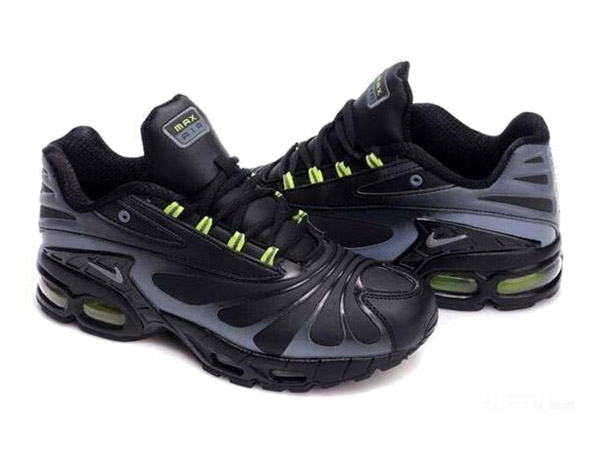 Air Max Nike Tn Requin/Nike Tuned 3 Chaussures Basket-Ball Pas Cher Pour Homme Noir/Vert