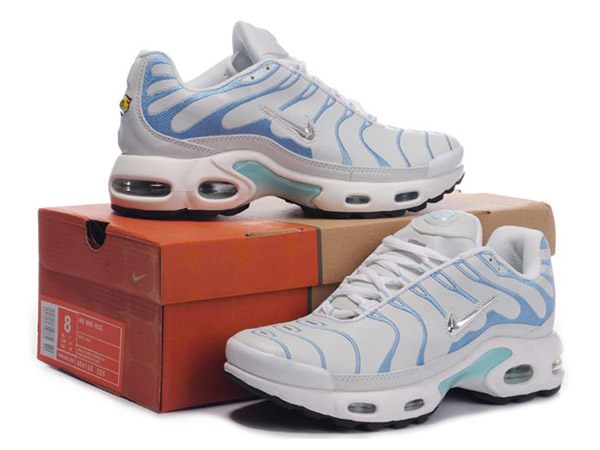 competitive price 7d309 caa79 ... Nike Air Max Tn Requin  Nike Tuned Shoes Cheap For Women White Blue
