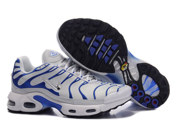 Air Max Nike Tn Requin/Nike Tuned Chaussures Pas Cher Pour Femme Blanc/Bleu