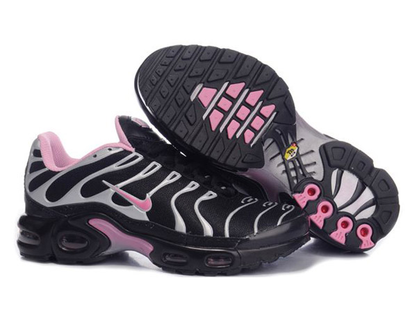 Air Max Nike Tn Requin/Nike Tuned Chaussures Pas Cher Pour Femme Noir/Pink/Gris