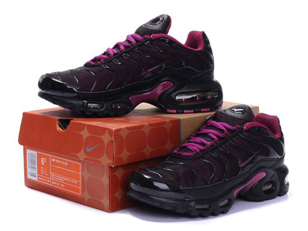 Air Max Nike Tn Requin/Nike Tuned Chaussures Pas Cher Pour Femme Noir/Rose