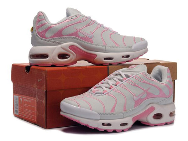 Air Max Nike Tn Requin/Nike Tuned Chaussures Pas Cher Pour Femme Rose/Blanc
