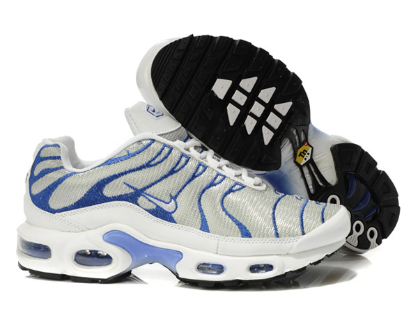 Air Max Nike Tn Requin/Tuned 2013 Chaussures Pas Cher Pour Homme Blanc/Bleu