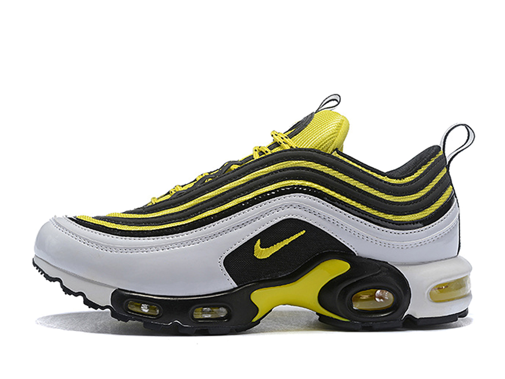 Boutique Nike Air Max 97/Plus 2019 Chaussures Nike BasketBall Pas Cher Pour Homme Blanc Jaune