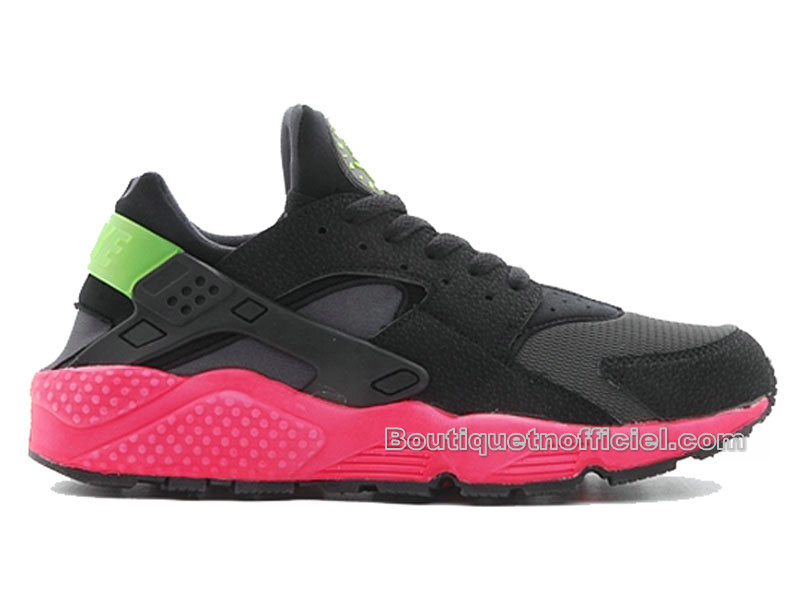 Nike Air Huarache - Chaussures Nike Sportswear Pas Cher Pour Homme Anthracite/Hyper Punch-Electric Vert-Noir 318429-006