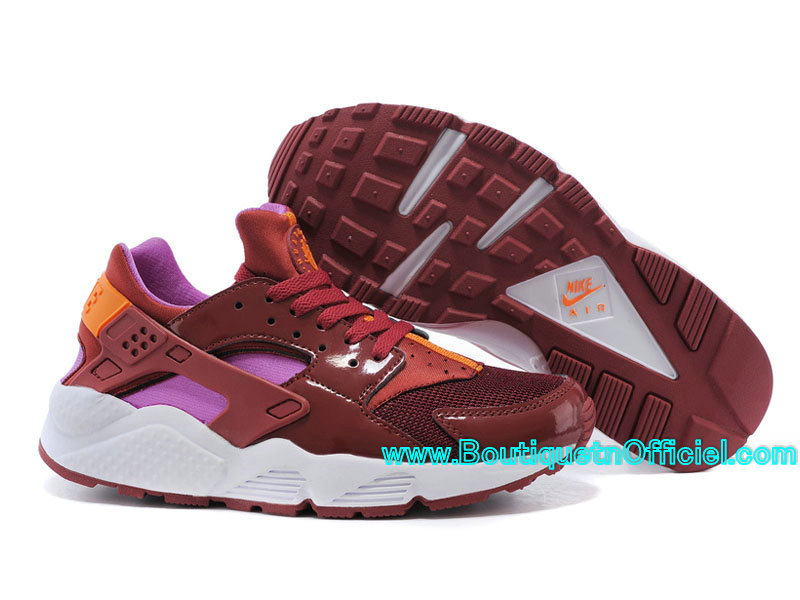 Nike Air Huarache GS - Nike Sportswear Pas Cher Chaussure Pour Femme/Fille Bourgogne 683818-681