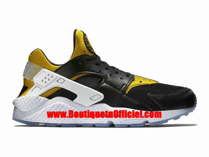 Nike Air Huarache Run Premium Chaussure Nike Sportswear Pas Cher Pour Homme NoirJaune 704830 080 1509071903 Officiel Nike Site! Chaussures Tn