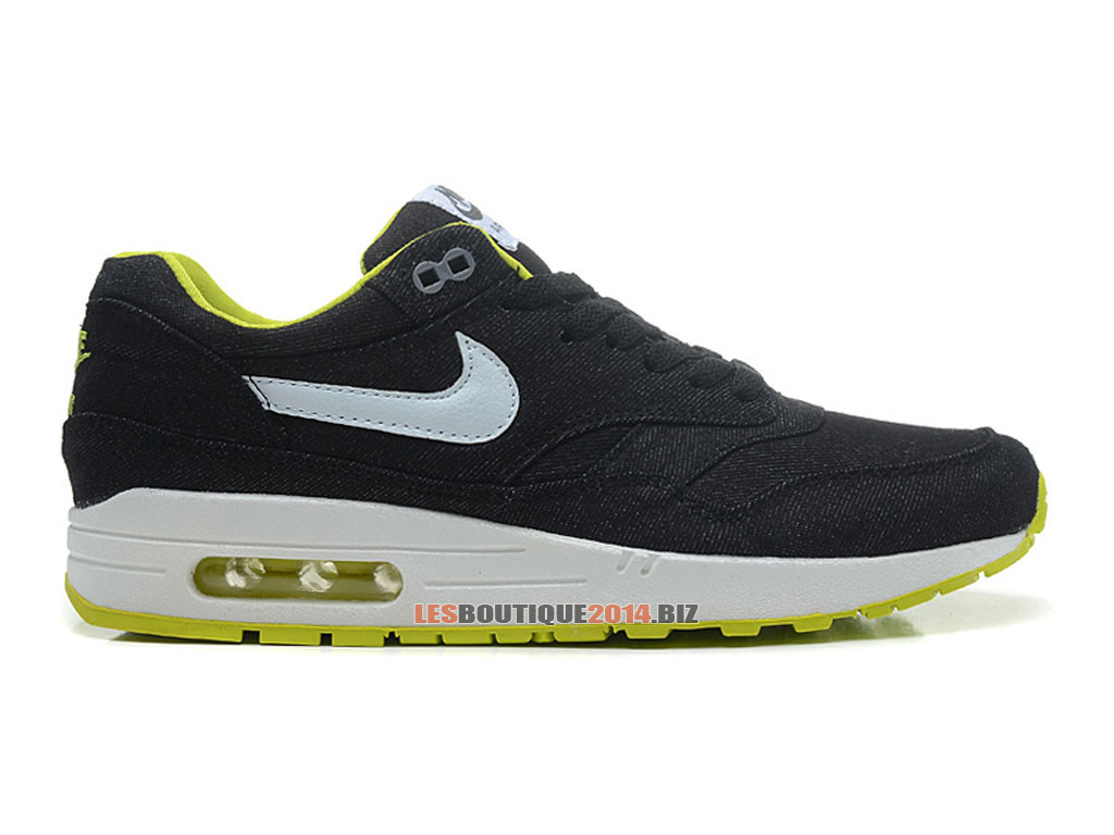 Nike Air Max 1/87 Essential - Chaussures de Nike Running Pas Cher Pour Homme Noir/Blanc-Cyber-Cool Gris 512033-019