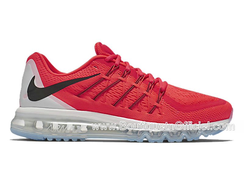 Nike Air Max 2015 Chaussures Nike BasketBall Pas Cher Pour Homme Rouge/Noir/Black 698902-600