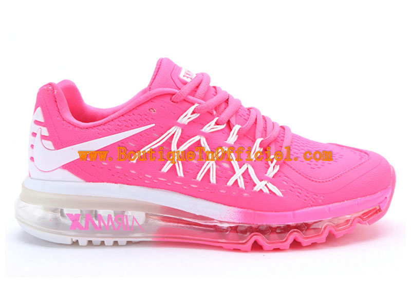 Nike Air Max 2015 GS Chaussures Pour Femme Blanc/Rose 698903-ID1