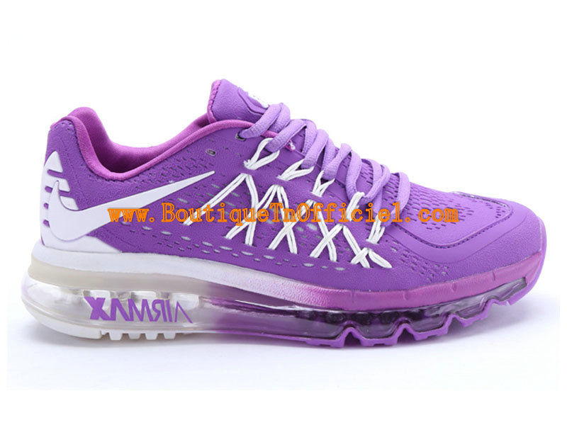 Nike Air Max 2015 GS Chaussures Pour Femme Blanc/Violet 698903-ID3