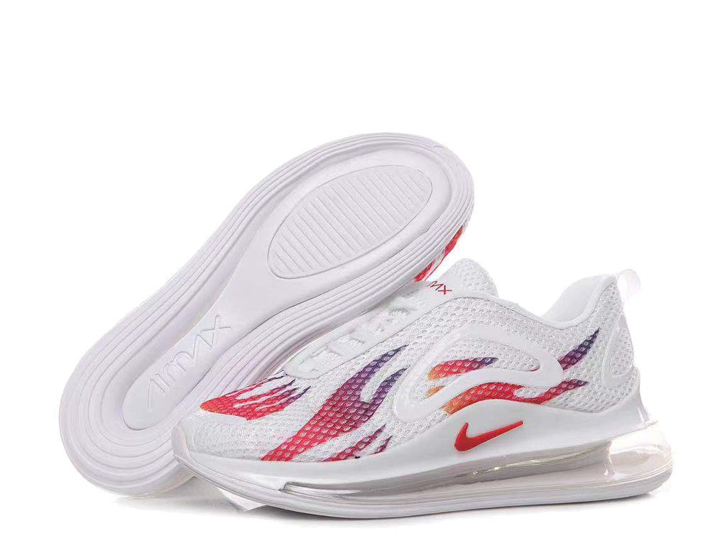 Nike Air Max 720 Chaussures de Running 2019 Pas Cher Pour Homme Blanc Rouge AO2924-ID6