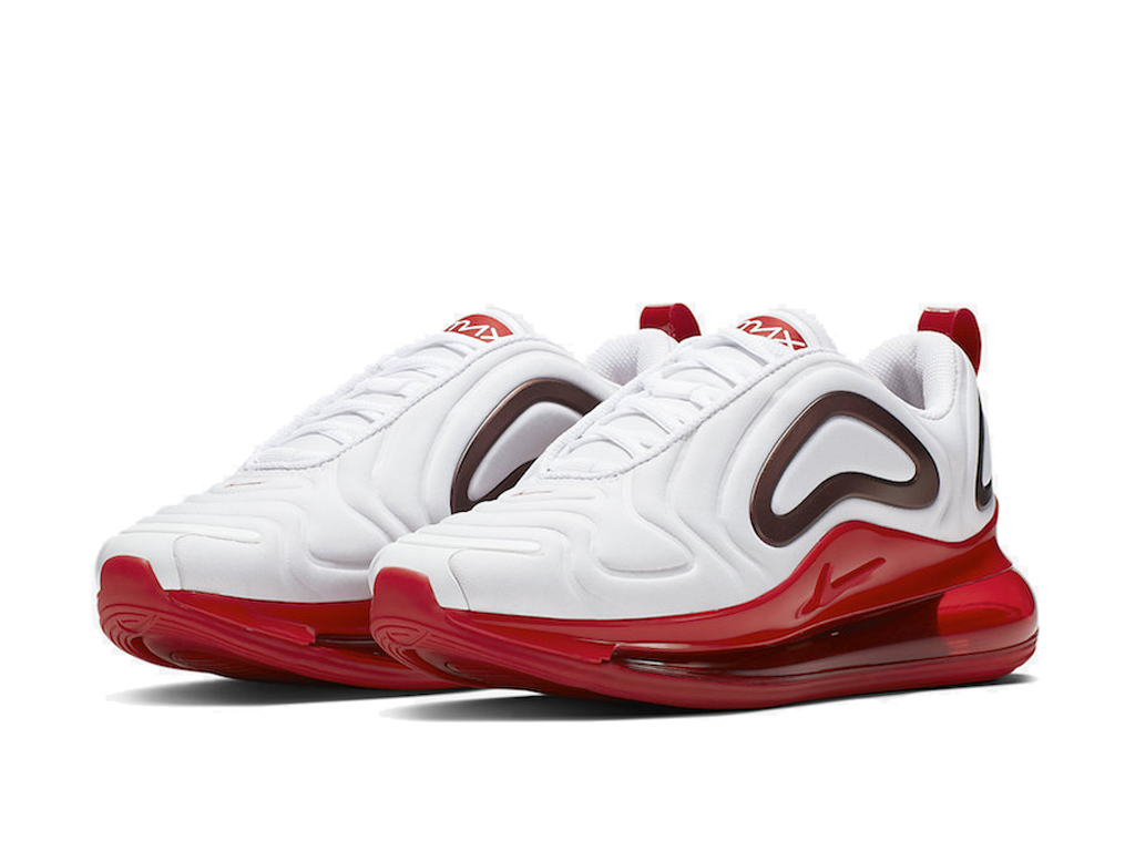 Nike Air Max 720 Chaussures de Running 2019 Pas Cher Pour Homme Blanc Rouge CD2047-100