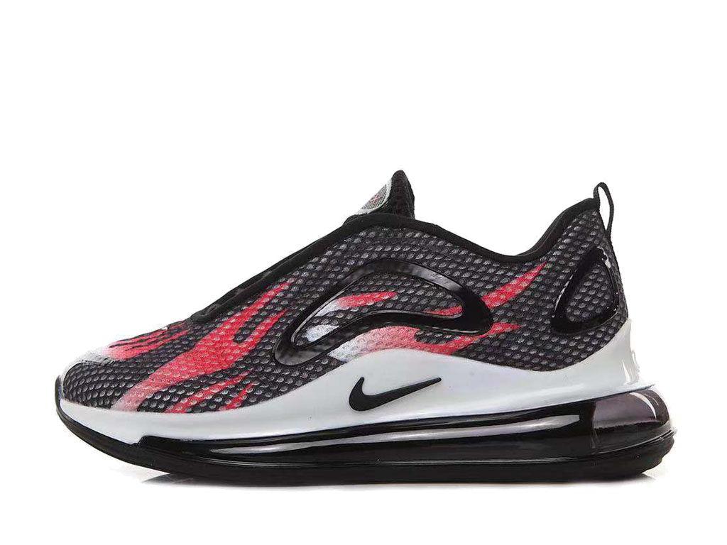 Nike Air Max 720 Chaussures de Running 2019 Pas Cher Pour Homme Noir Rouge AO2924-ID8