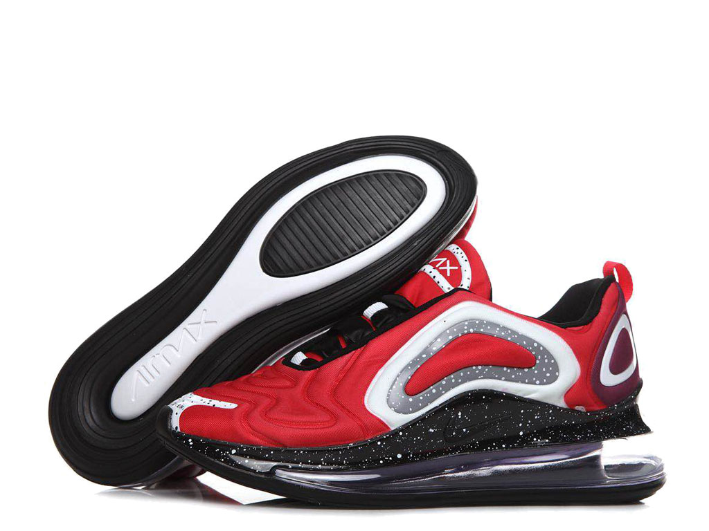 Nike Air Max 720 Chaussures de Running 2019 Pas Cher Pour Homme Rouge Noir AO2924-ID2