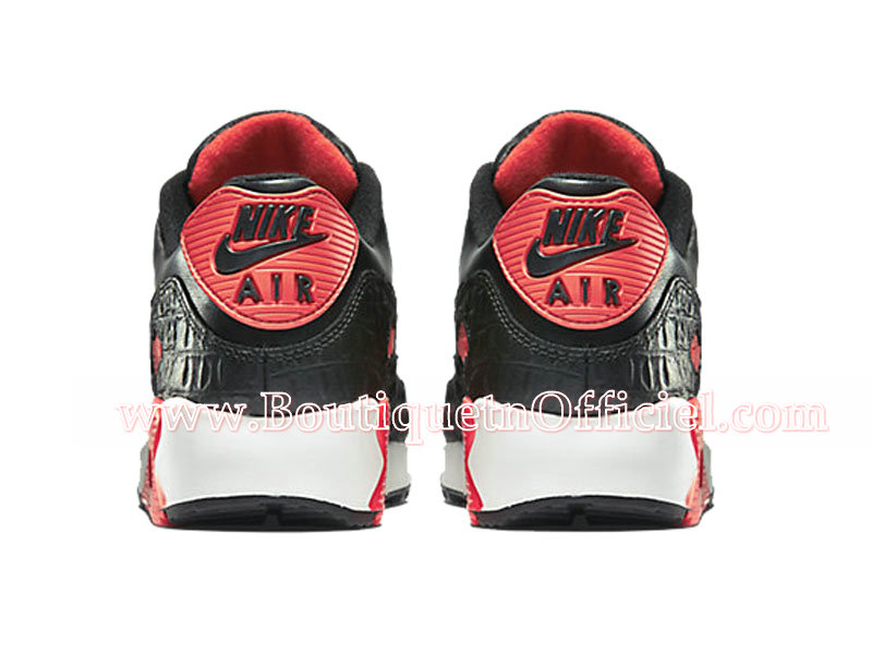 Nike Air Max 90 Anniversary Chaussures Pour Homme Noir/Rouge 725235-006