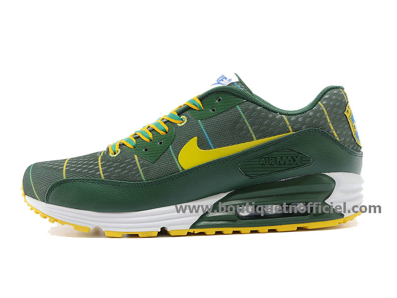 Nike Air Max 90 EM NATIONAL PACK (Brasil) Chaussures Nike Pas Cher Pour Homme Vert