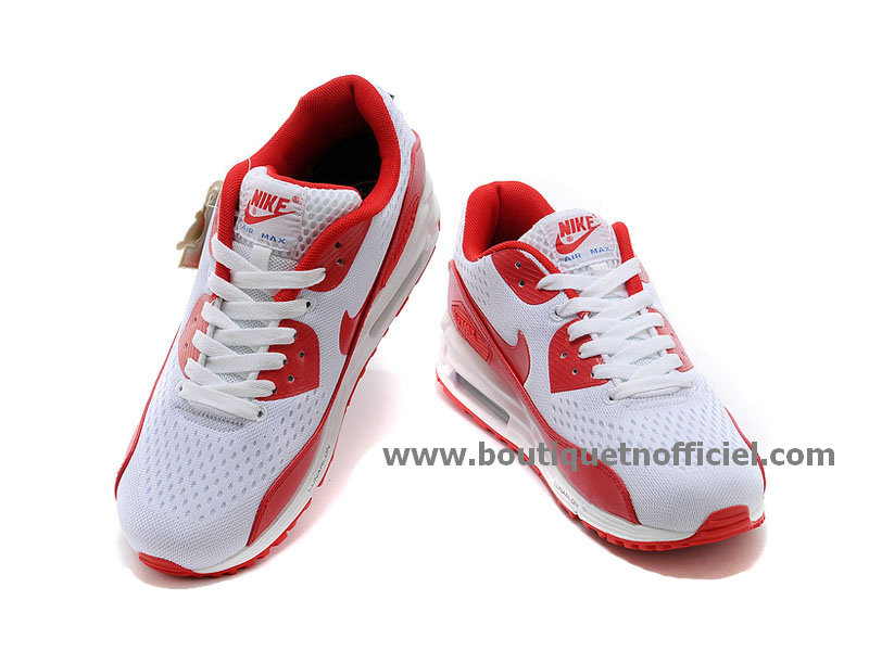 Nike Air Max 90 EM NATIONAL PACK (England) Chaussures Nike Pas Cher Pour Homme Blanc/Rouge
