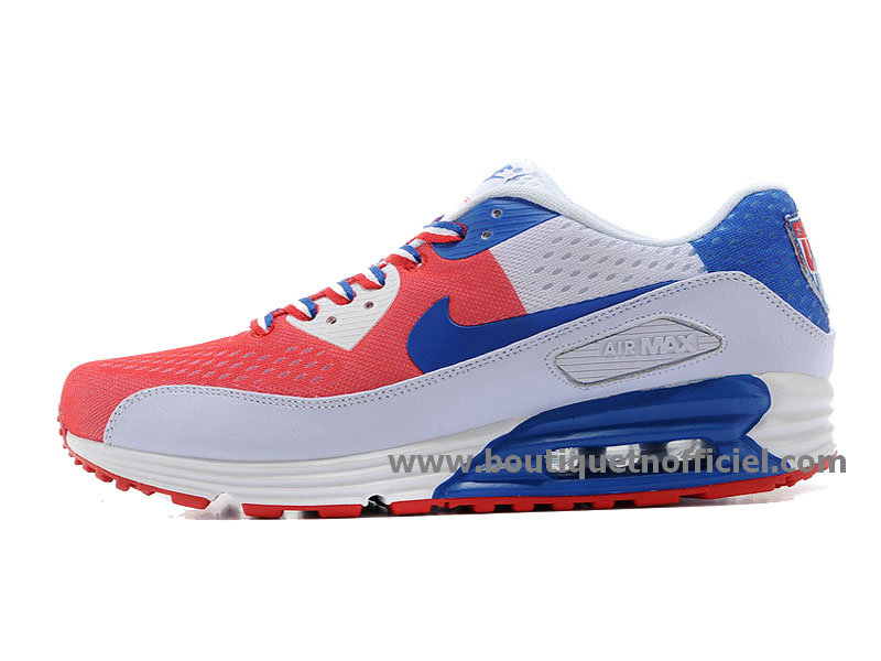 Nike Air Max 90 EM NATIONAL PACK (USA) Chaussures Nike Pas Cher Pour Homme Blanc/Rouge