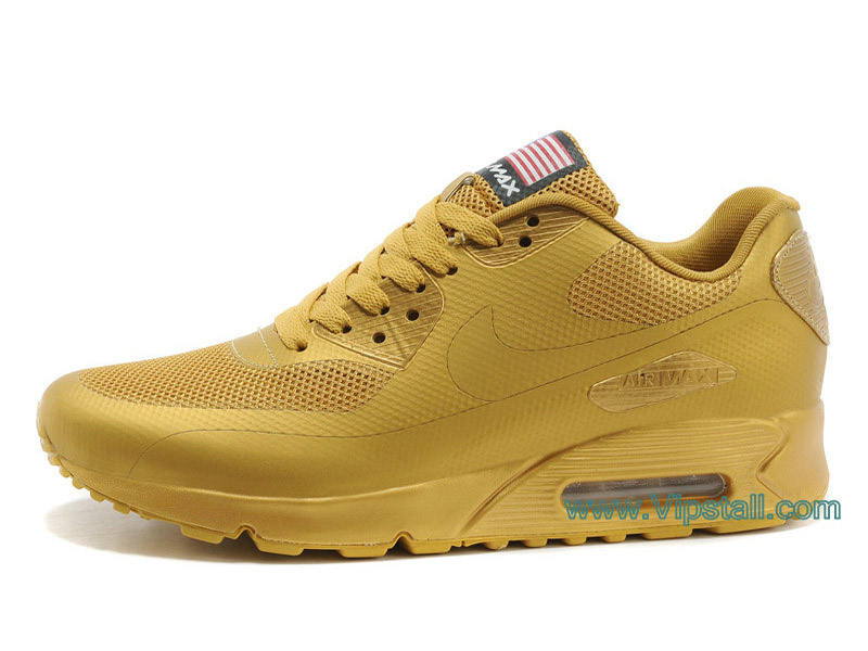 Nike Air Max 90 Hyperfuse USA Chaussures de BasketBall Pour Femme Or