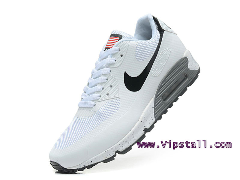 Nike Air Max 90 Hyperfuse USA Chaussures de BasketBall Pour Homme Blanc 454446-886