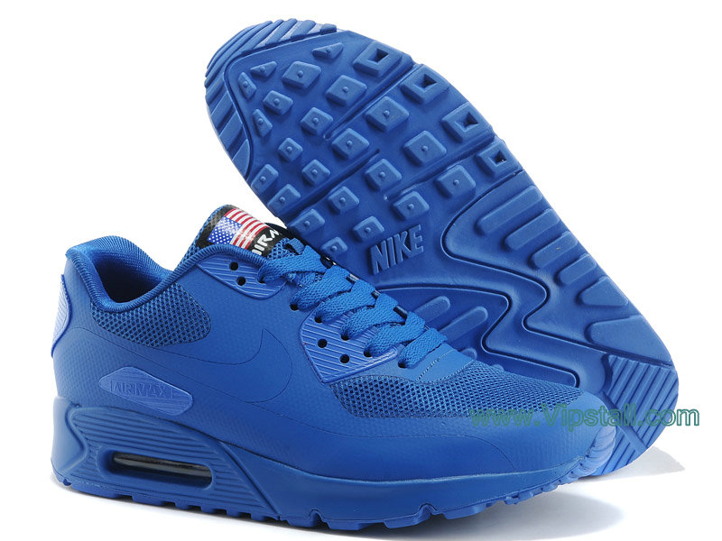 Nike Air Max 90 Hyperfuse USA Chaussures de BasketBall Pour Homme Bleu
