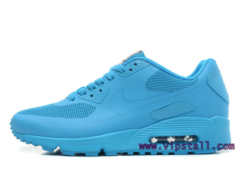Nike Air Max 90 Hyperfuse USA Chaussures de BasketBall Pour Homme Bleu 454460-600