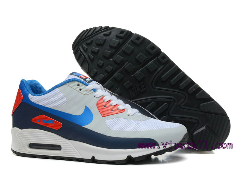 info for d32f5 4c815 ... Nike Air Max 90 Hyperfuse USA Chaussures de BasketBall Pour Homme  Gris Bleu