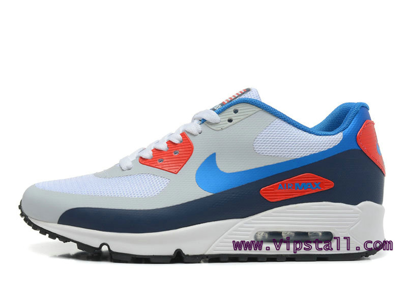 Nike Air Max 90 Hyperfuse USA Chaussures de BasketBall Pour Homme Gris/Bleu