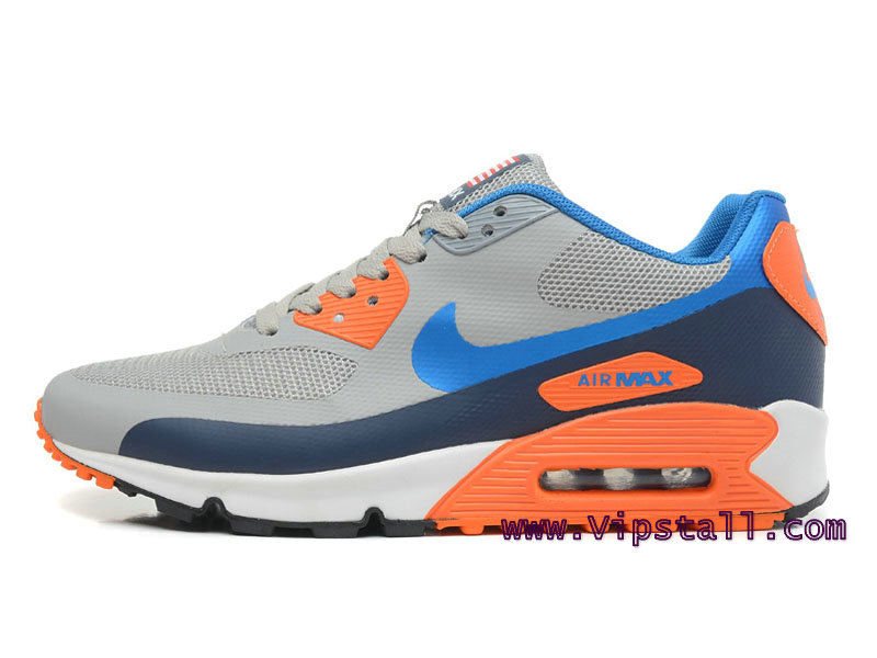 Nike Air Max 90 Hyperfuse USA Chaussures de BasketBall Pour Homme Gris/Orange 454446-ID2