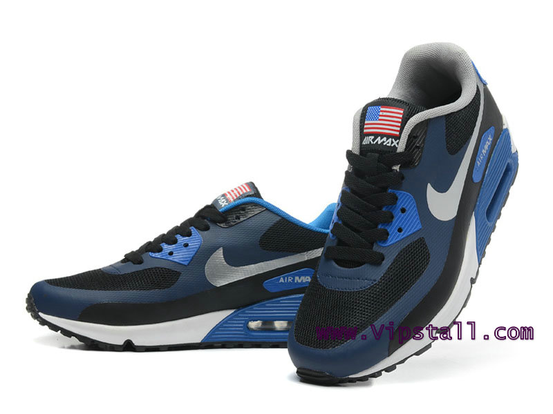 los angeles e280c c8cf3 ... Nike Air Max 90 Hyperfuse USA Men´s BasketBall Shoes Black Argent  454446- ...
