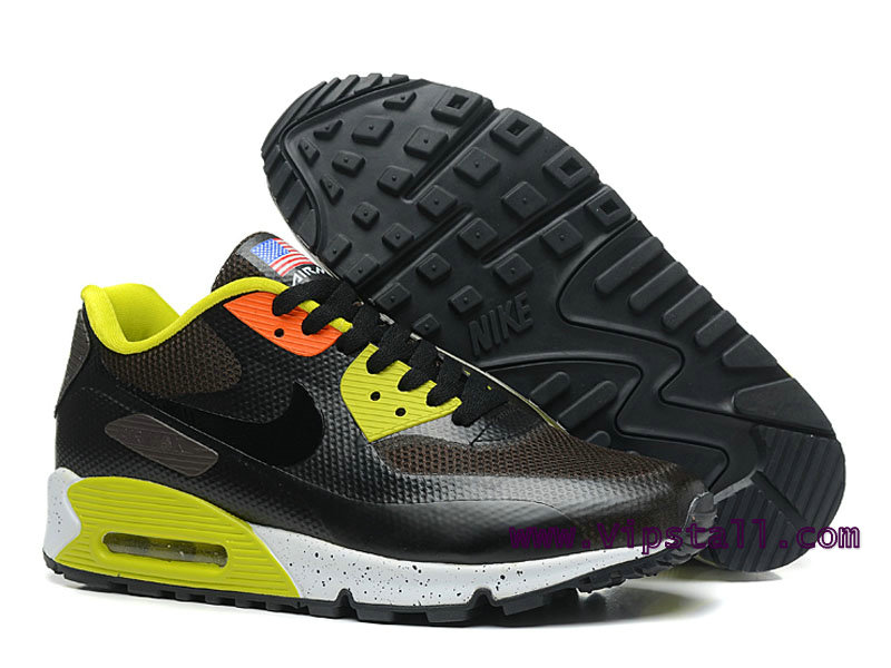 save off e59e1 1368f ... Nike Air Max 90 Hyperfuse USA Men´s BasketBall Shoes Black Yellow  454446- ...
