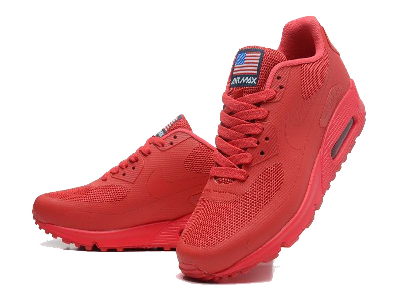 Nike Air Max 90 Hyperfuse USA Chaussures Pour Homme Red 613841-660