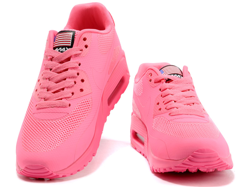 Nike Air Max 90 Hyperfuse USA GS Chaussures Pour Femme Rose