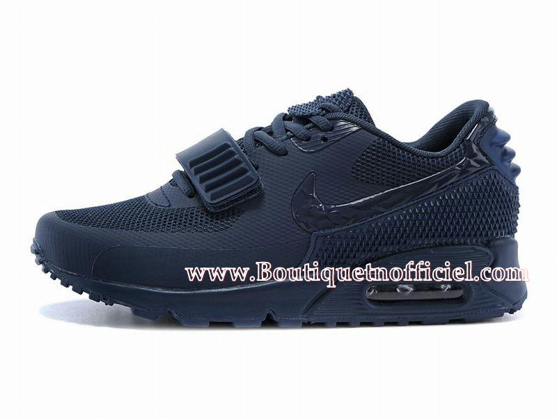 Nike Air Max 90 Yeezy 2 (Design by Blkvis) - Chaussures Nike Sport Pas Cher Pour Homme Bleu 508214-605iD