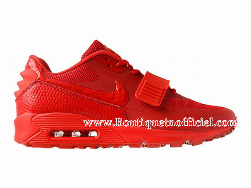 Nike Air Max 90 Yeezy SP (Design by Blkvis) - Chaussures Nike Sport Pas Cher Pour Homme Rouge 508214-600
