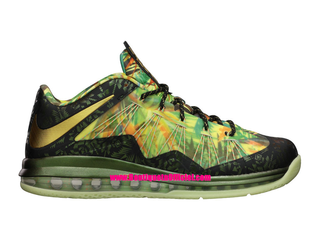 Nike Air Max LeBron X/10 Low - Chaussures Baskets Nike Pas Cher Pour Homme Championship Pack 628622-900