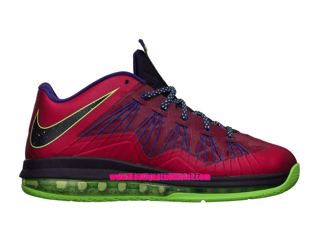 Nike Air Max LeBron X/10 Low - Chaussures Baskets Nike Pas Cher Pour Homme Raspberry Red Purple 579765-601