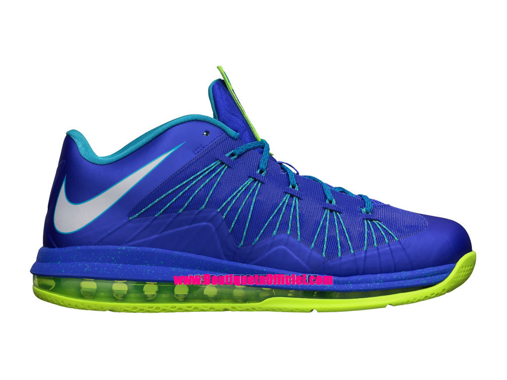 Nike Air Max LeBron X/10 Low - Chaussures Baskets Nike Pas Cher Pour Homme Violet Force/Pure Platinum-Violet-Sport Turquoise 579765-500